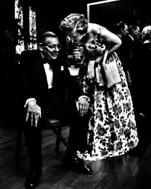 TS Eliot and his second wife Valerie in London in 1964.