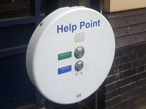 A train station 'help point'