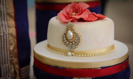 Nadiya's showstopper wedding cake.