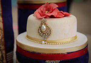 Hussain's final showstopper challenge: My Big Fat British Wedding cake.