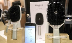 Kerastase's smart Hair Coach hairbrush provides 'insights into manageability, frizziness, dryness, split-ends and breakage'.