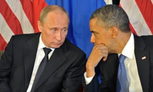 Vladimir Putin and Barack Obama, June 2012