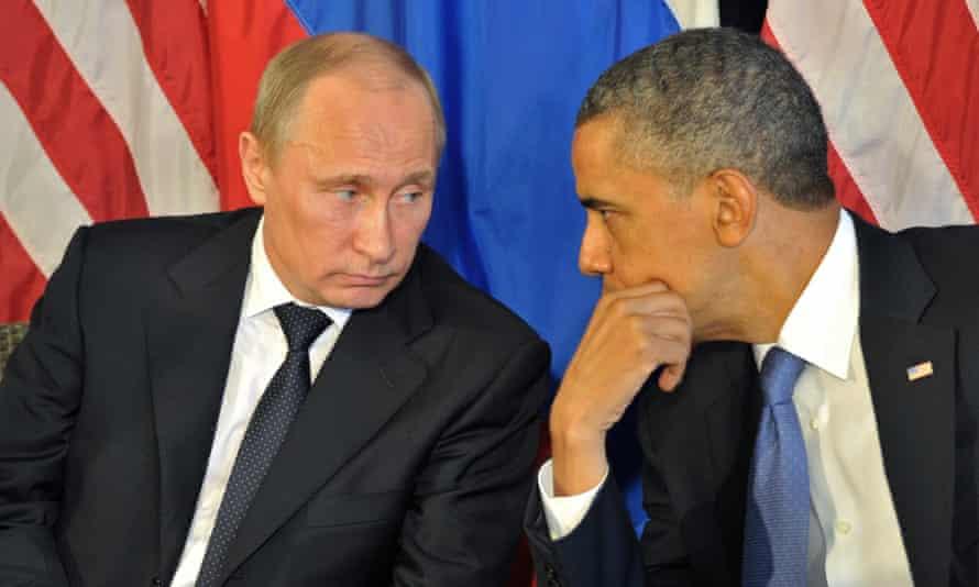 Vladimir Putin and Barack Obama, June 2012
