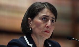 Gladys Berejiklian answering questions during NSW budget estimates