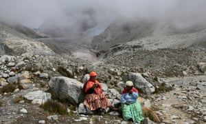 The women take a rest from climbing