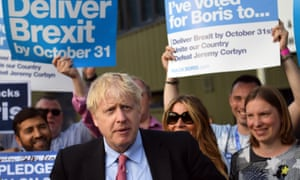 Boris Johnson meets supporters during his leadership campaign.