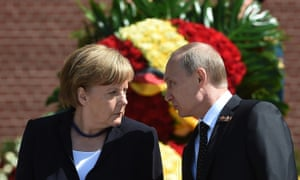German chancellor Angela Merkel's problems with President Vladimir Putin may include political meddling by Russia.