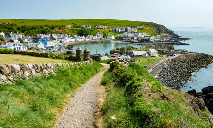 The fishing village of Portpatrick in Dumfries and Galloway, which the proposed bridge would link to Larne in Northern Ireland