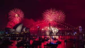 An estimated one million people came to watch the fireworks at Sydney Harbour