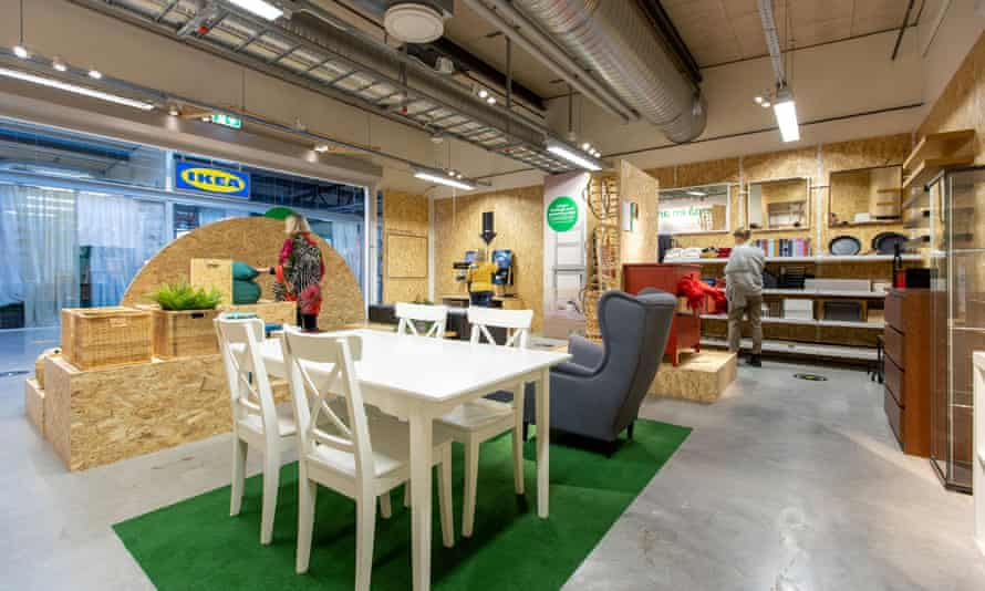 A pilot secondhand Ikea furniture store Eskilstuna, Sweden