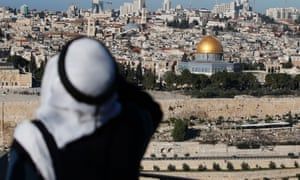 The Dome of the Rock at the Al-Aqsa mosque compound in the Old City of Jerusalem on December 29, 2016