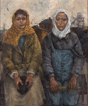 Pit Brow Lasses, by artist David Venables, was finished in 2015, using sketches he made in Wigan 50 years earlier.