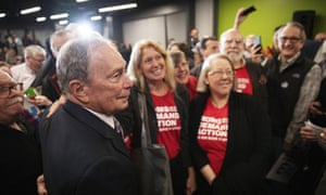 Michael Bloomberg at a campaign event on 5 February 2020, in Providence, Rhode Island.