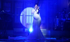 Total force of nature … Cardi B performing on Saturday Night Live in April.