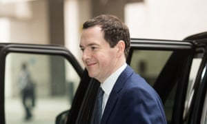 George Osborne arrives at BBC Broadcasting House for The Andrew Marr Show.
