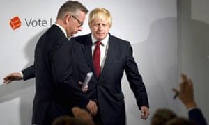 Michael Gove and Boris Johnson in the runup to the vote.