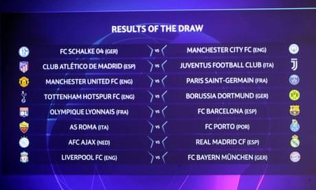 Champions League last 16 draw: Man Utd face PSG, Liverpool v
