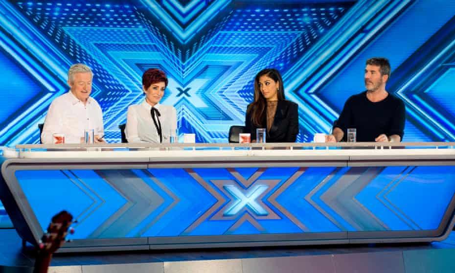 Louis Walsh, Sharon Osbourne, Nicole Scherzinger and Simon Cowell on The X Factor