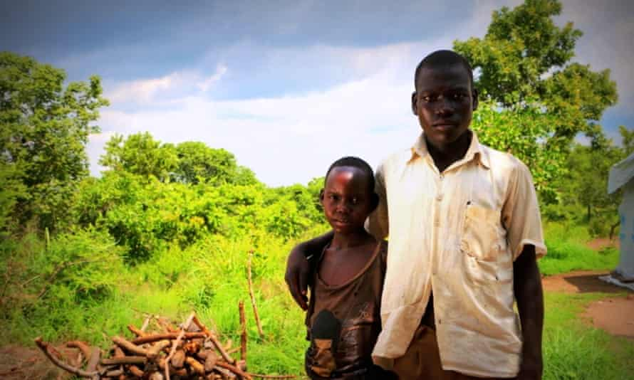 Nadal, 16, and his sister Talia, 12, who are refugees from Juba, South Sudan.