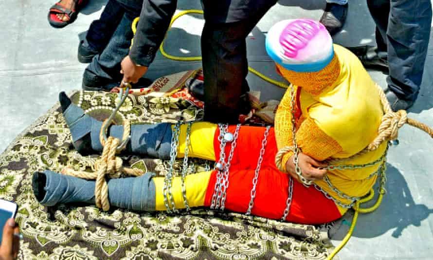 Chanchal Lahiri in chains