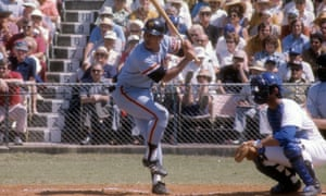 Oh bats against the Los Angeles Dodgers during exhibition game circa 1970 at Dodger Town in Vero Beach, Florida.