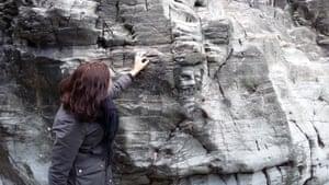 Merlin's face, Tintagel
