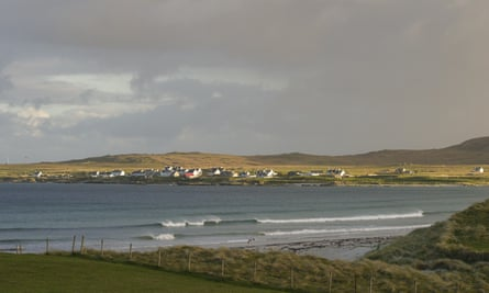 Balemartine, Tiree, seen across Soroby Bay