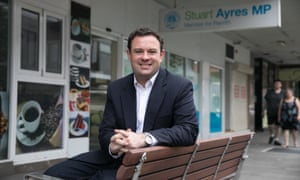Stuart Ayres, the Liberal MP for Penrith, outside his electorate office