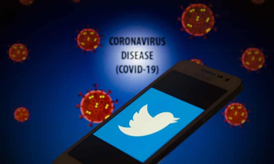 Twitter and coronavirus graphic