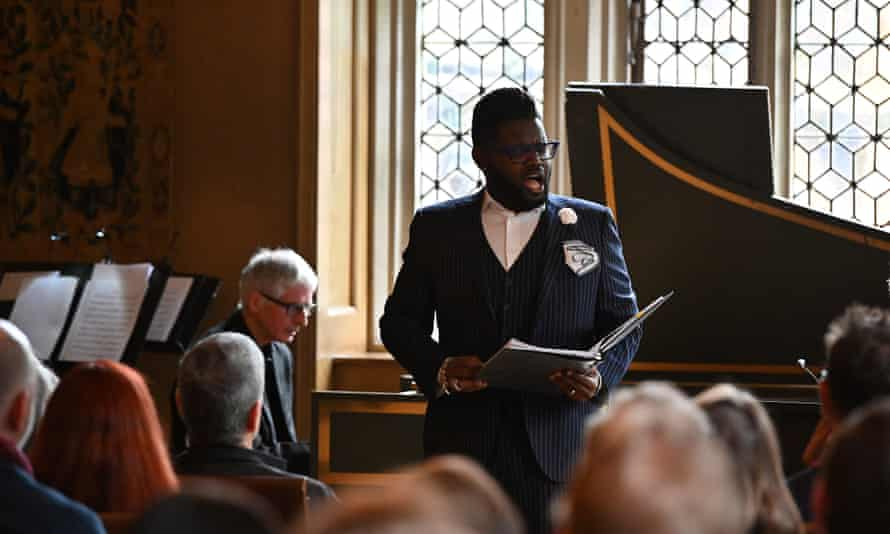 Countertenor John Holiday at Sound Unbound at the Charterhouse, London
