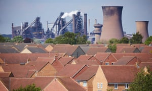 The British Steel plant in Scunthorpe