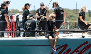 Former Australian foreign minister Julie Bishop on board Wild Oats X during the start of the Sydney to Hobart yacht race on 26 December, 2018 in Sydney, Australia.
