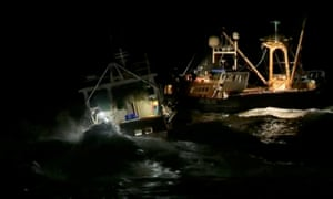 French and British fishing boats collide