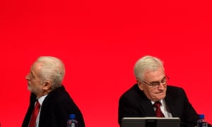 Jeremy Corbyn, left, and John McDonnell at last year's Labour party conference.