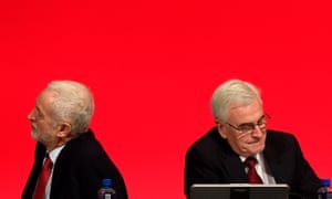 Divided they sit: Jeremy Corbyn and his shadow chancellor, John McDonnell, have had opposing views to budget cuts for the better-off.