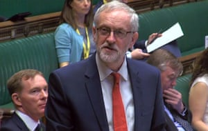 Jeremy Corbyn addressing parliament as he wishes Britain's Queen Elizabeth II all the best on her 90th birthday.