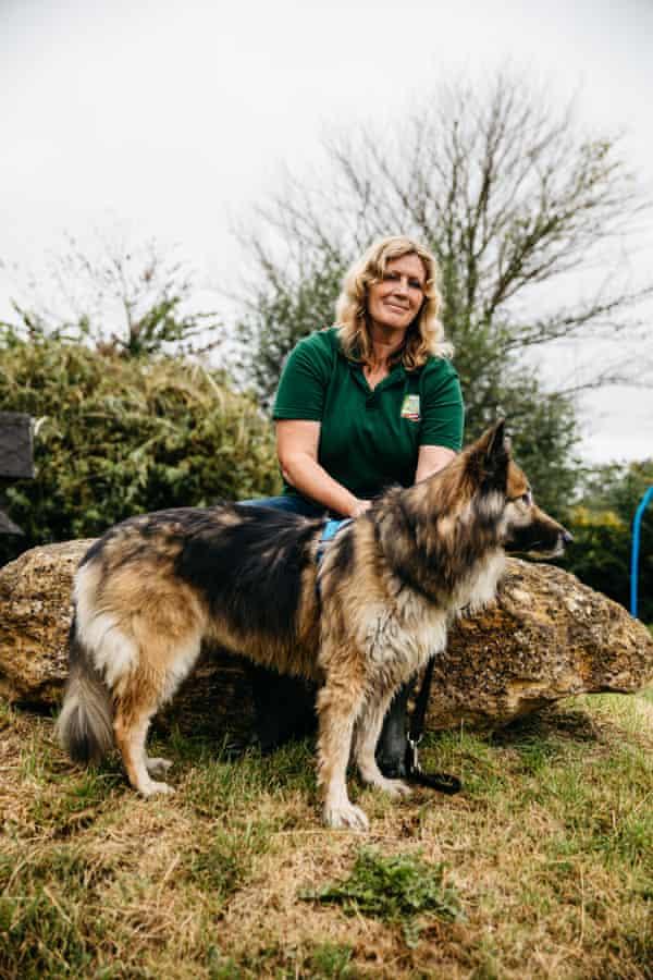 Julie Plumley with her dog Mutti