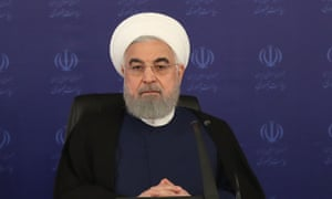 "Rouhani in Tehran. In his TV address he said George Floyd ""was killed in the most brutal way"""