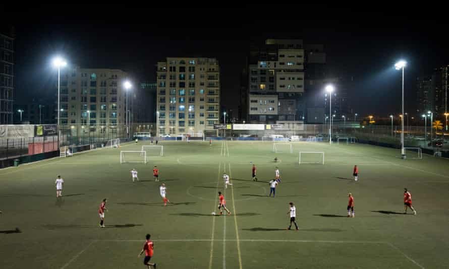 A match in progress at the Dome, near Zayed Sports City.