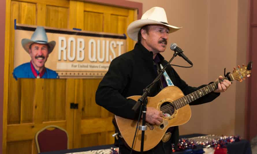 Rob Quist campaigning in Montana.