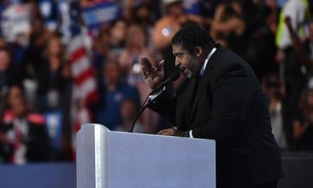 William Barber addresses the Democratic National Convention in Philadelphia on 28 July 2016.
