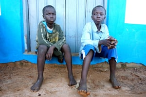 Joe, 10, and Kwame, 12, brothers who were sold by their mother to a fisherman in Yeji