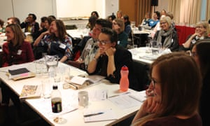 Teachers and librarians at at the Guardian Education Centre Reading for pleasure conference 5 March 2018.