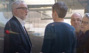 Former MP Mary Creagh (centre), who lost her Wakefield seat, with Jeremy Corbyn after the election
