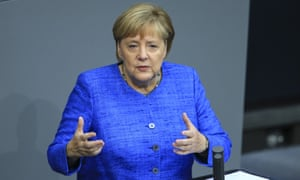 Angela Merkel giving a speech