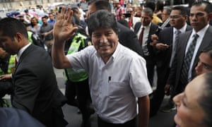 Bolivia's former president Evo Morales arrives in Mexico last week after the country granted him asylum following his resignation
