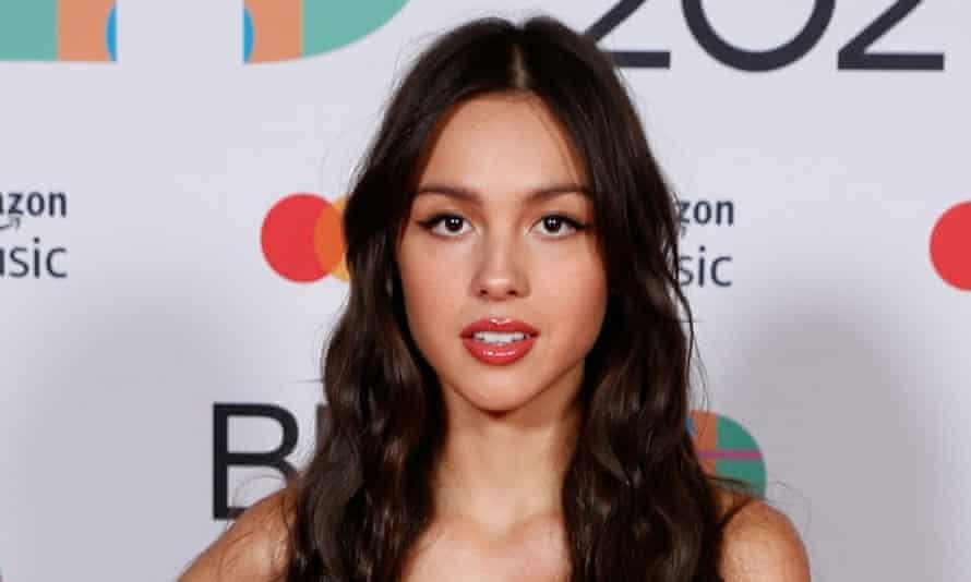 Olivia Rodrigo at the 2021 Brit awards.