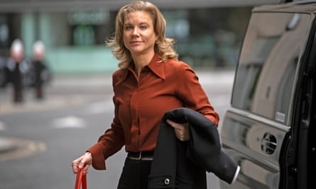 Amanda Staveley steps out of taxi