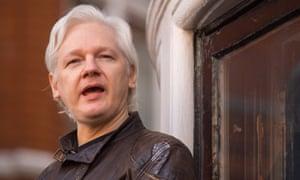 Julian Assange in London on 6 July 2017.