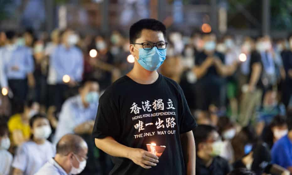 Crowds in Hong Kong hold a vigil for the victims of Beijing's 1989 Tiananmen crackdown.